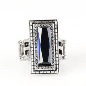 Titleholder - Blue Ring Vintage Paparazzi